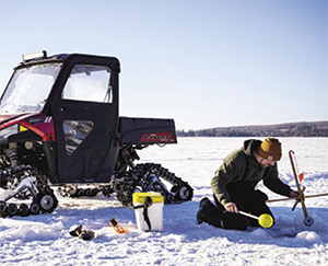 Camso X4S UTV rider ice fishing