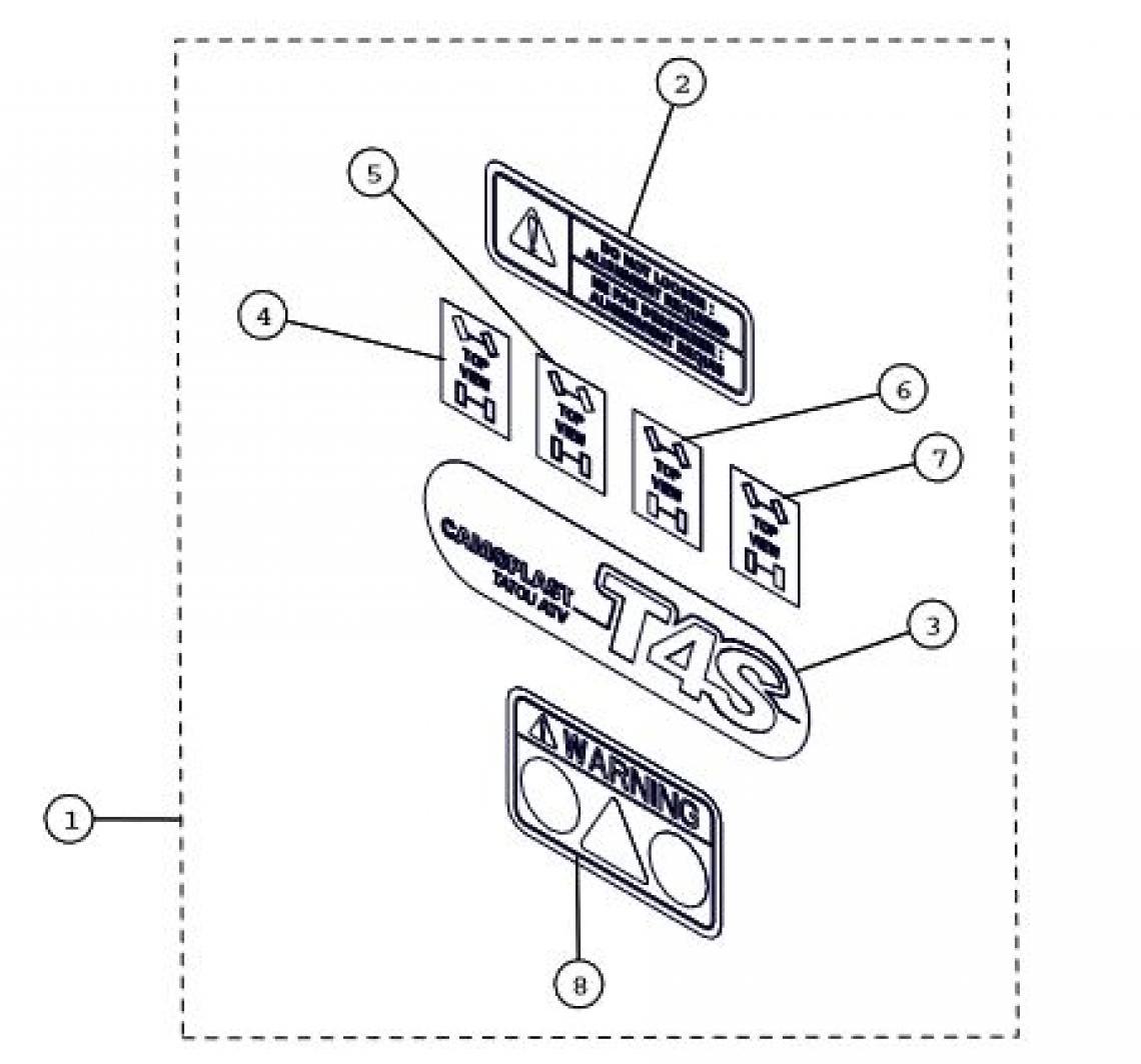 Decals ATV Track Parts for 2015 Camoplast TATOU 4S