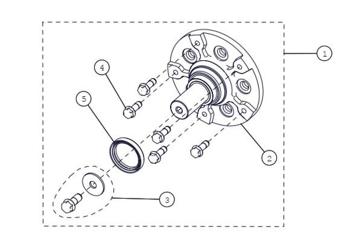S-kit Hub 5-Bolts UTV Track Parts for 2016 Camoplast TATOU 4S