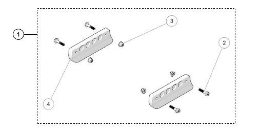 Skate Kit ATV Track Parts for 2018 Camso R4S