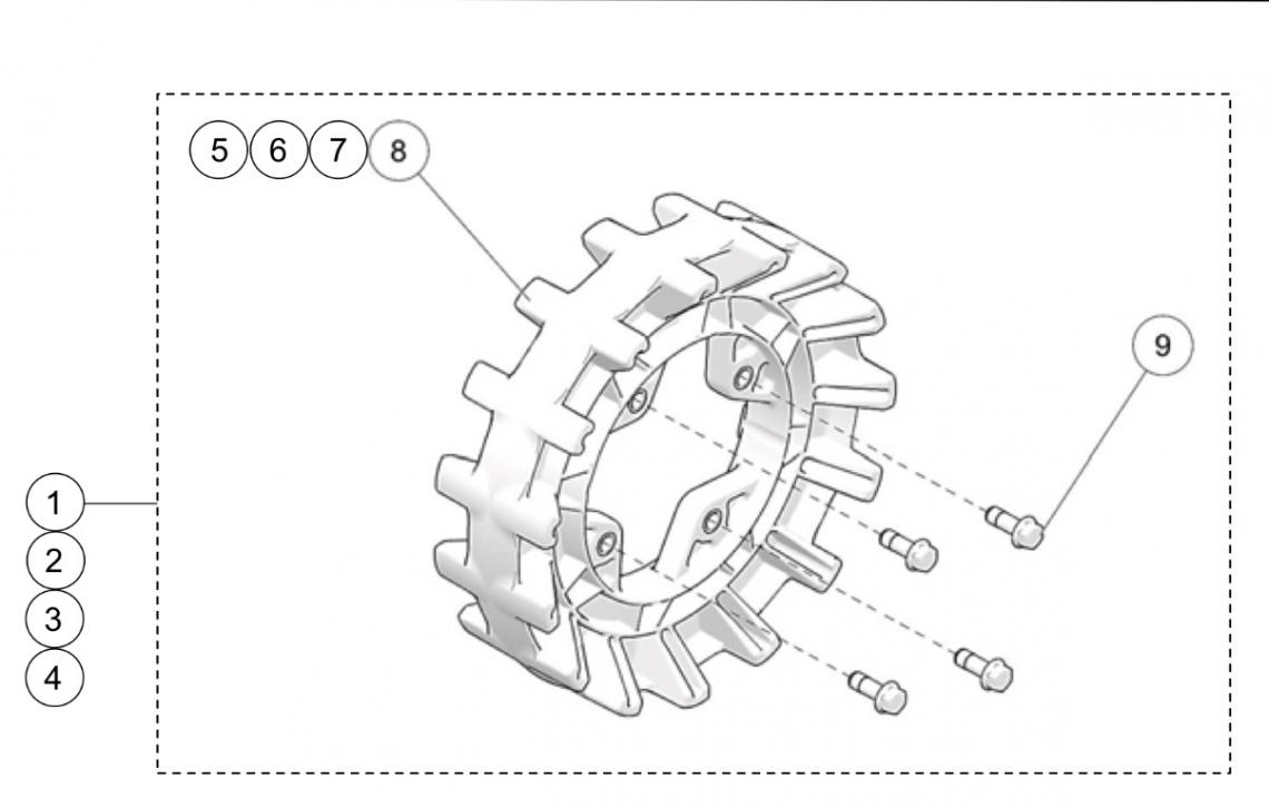 2019 Camso X4S UTV 4-Bolt Sprocket Kits